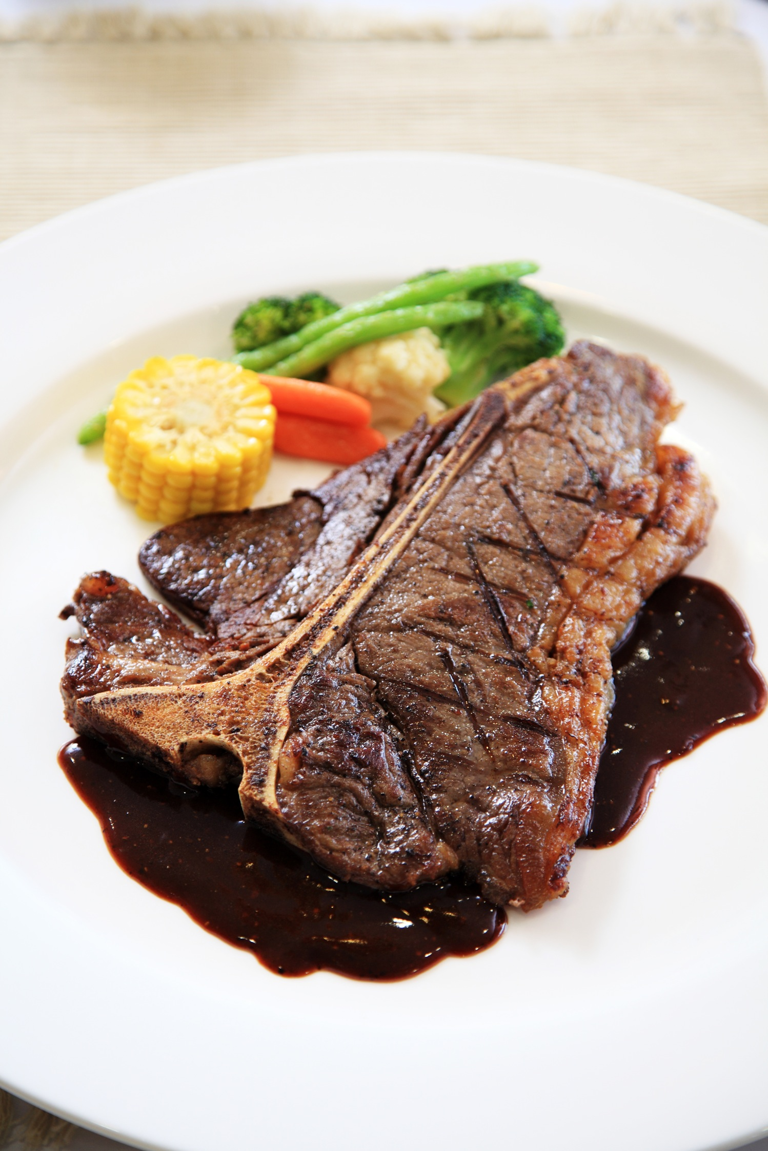 Black Pepper T. Bone Steak (Grilled T. Bone Steak served with black ...